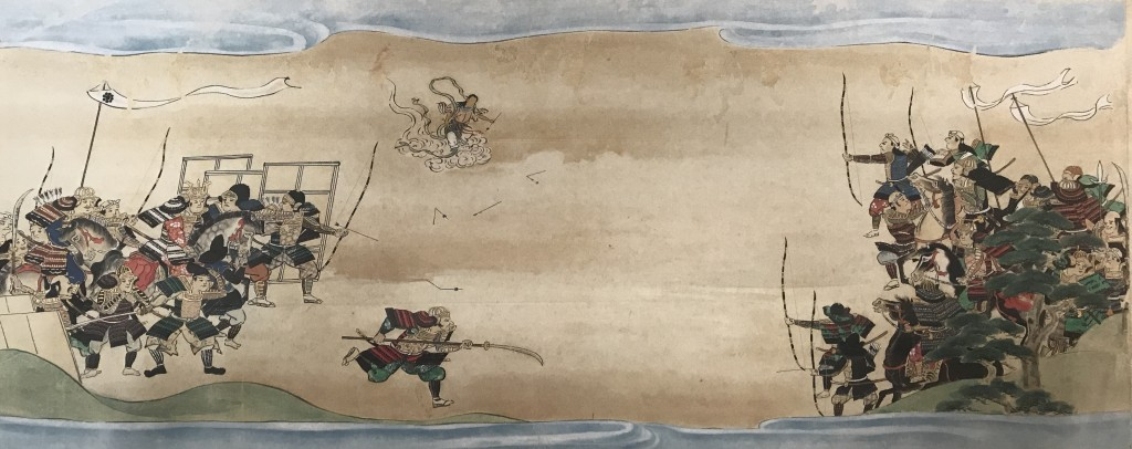Myoken-Dai-Bosatsu helping the Chiba clan to win a battle